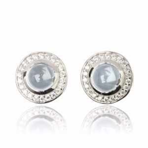 Melissa Lo Aria Blue Topaz Earrings silver