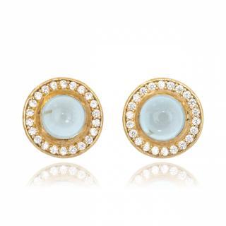 Melissa Lo Aria Blue Topaz Earrings Gold