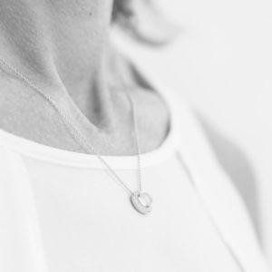 Melissa Lo Aria Necklace Aqua Chalcedony silver