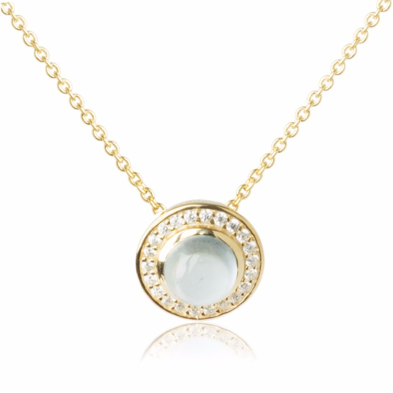 Melissa Lo Aria Necklace Blue Topaz gold