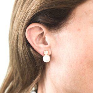 Melissa Lo Ava Earrings Gold