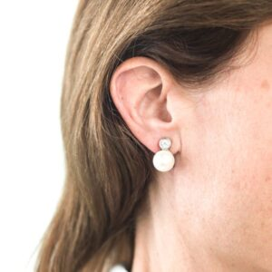 Melissa Lo Ava Earrings Silver