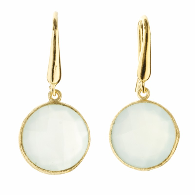 Melissa Lo Cara Earrings Aqua Chalcedony