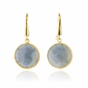 Melissa Lo Cara Earrings Blue Quartz