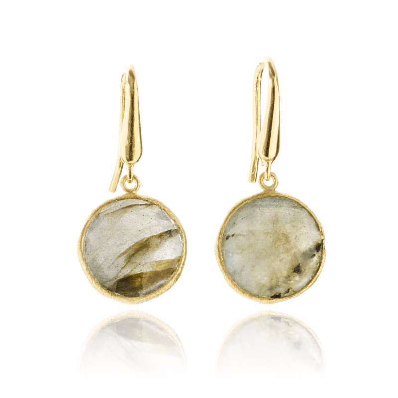 Melissa Lo Cara Earrings Labradorite
