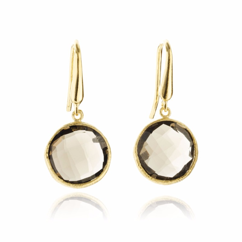 Melissa Lo Cara Earrings Smoky Quartz