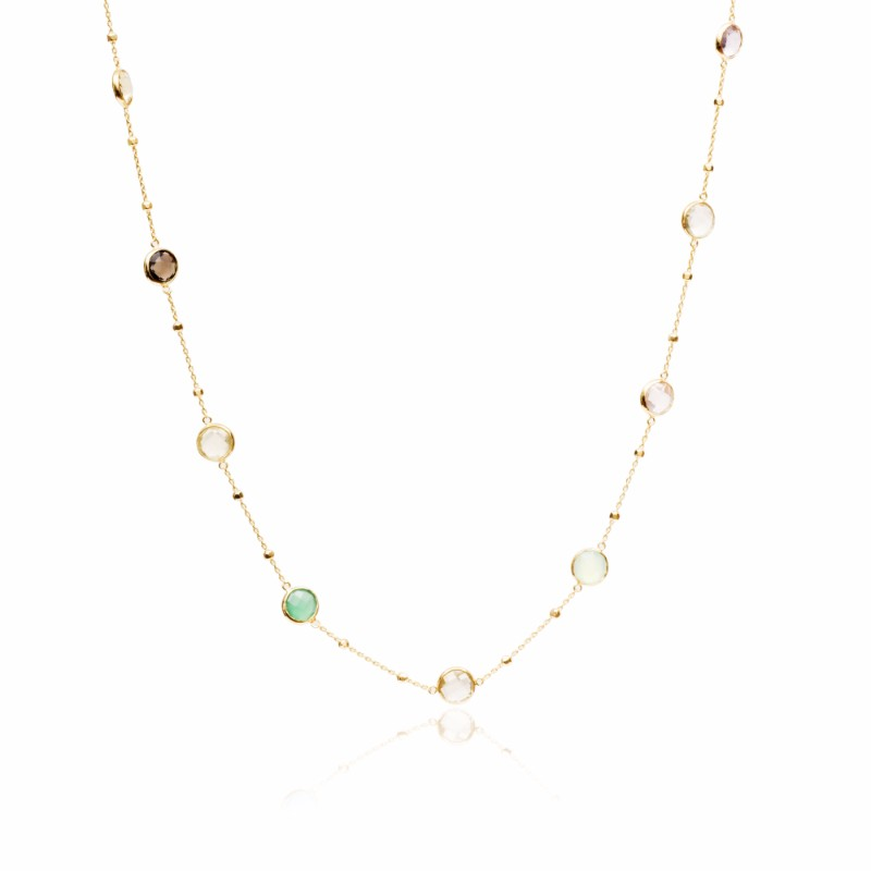 Melissa Lo Ellie Autumn Multistone necklace