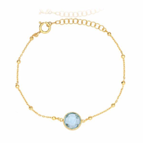 Melissa Lo Ella Bracelet Blue Topaz