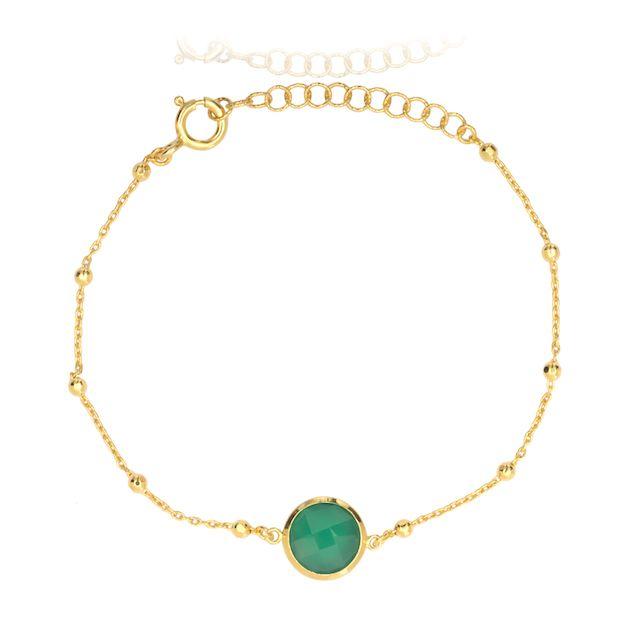 Melissa Lo Ella Bracelet Green agate