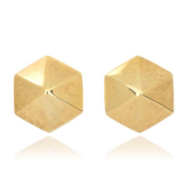 Melissa Lo Hexagon Studs