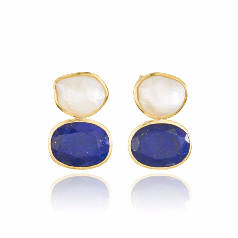 down gold earrings earth products lazuli rose collections austin white lapis to