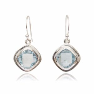 Melissa Lo Iris Earrings Silver