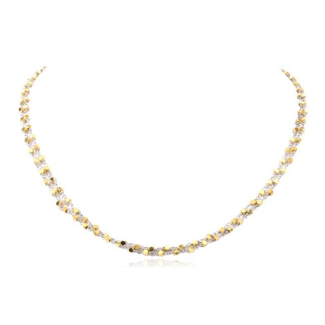Melissa Lo Luna Necklace Gold beads with silver