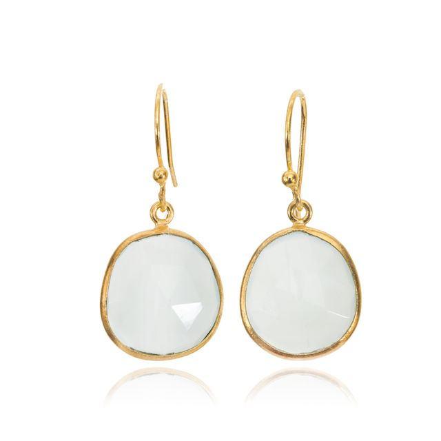 Melissa Lo Maia Earrings Aqua Chalcedony