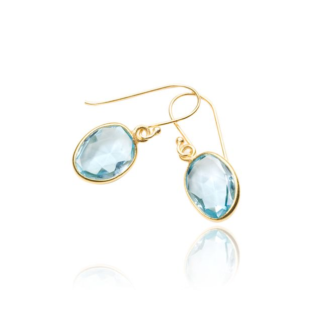 Melissa Lo Maia Earrings Blue Topaz
