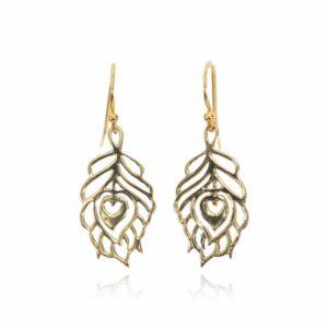 Melissa Lo Peacock Earrings