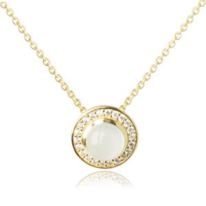 Melissa Lo Aria Necklace Aqua Chalcedony gold