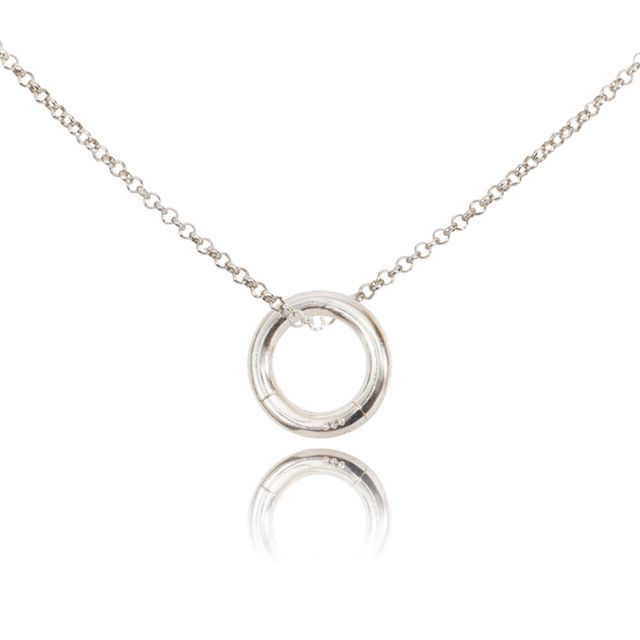 Melissa Lo Charm Necklace. Chain and O Ring Silver