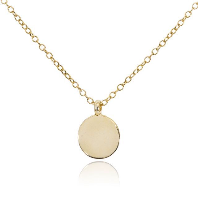 Melissa Lo Disc Charm Necklace