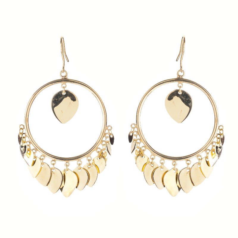 Melissa Lo Disco leaves earrings