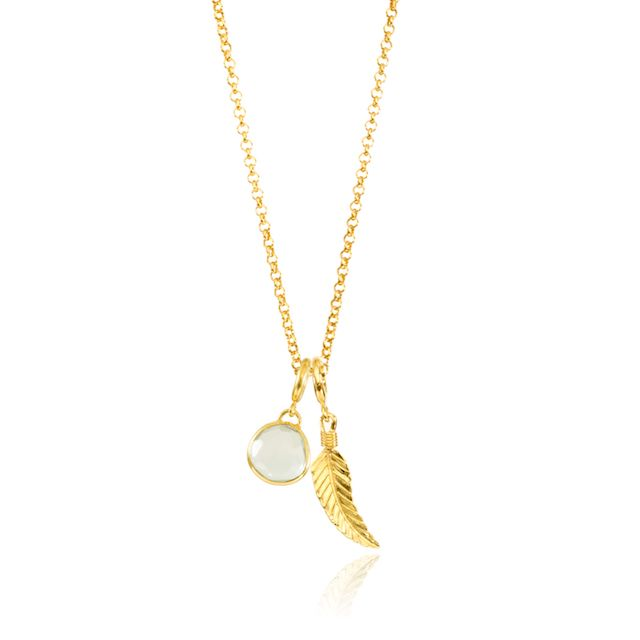 Melissa Lo Feather Charm Gold