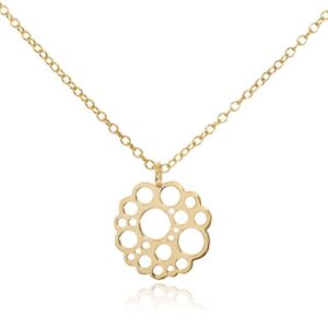 Melissa Lo Logo Necklace gold
