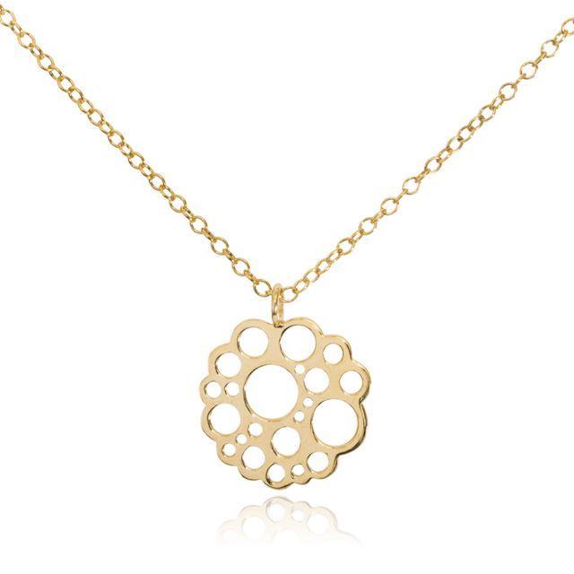 Melissa Lo Logo Necklace gold
