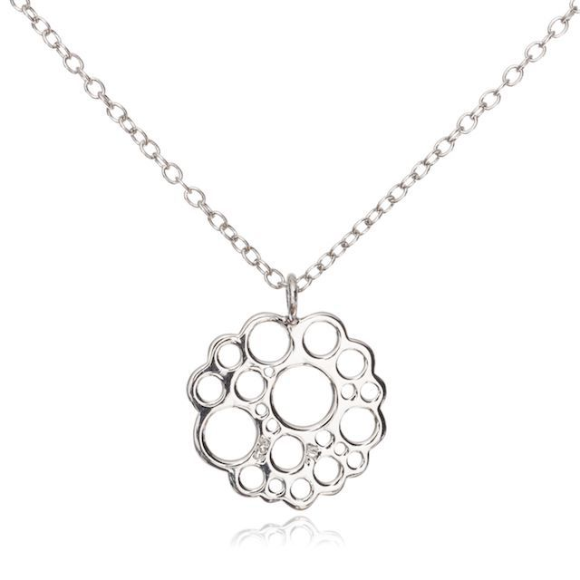 Melissa Lo Logo Necklace silver